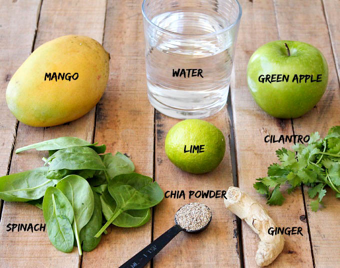 Cilantro-Green-Smoothie-ingredients