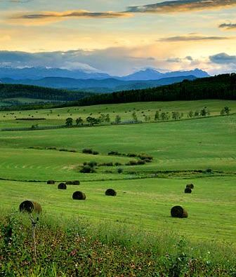 Foothills Sunset, South of Calgary, Alberta, Canada